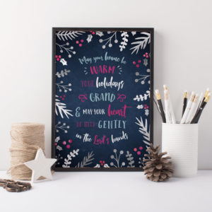 Fill your home with warmth and love this Christmas season with this stunning Christmas art quote. Print it out instantly after purchase and get your home Christmas-ready.