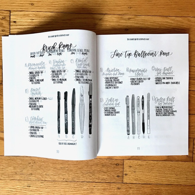 The ultimate brush lettering guide review Difference between calligraphy and typography