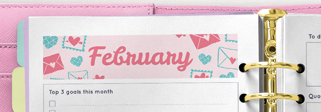 February 2017 Printable Monthly Planner