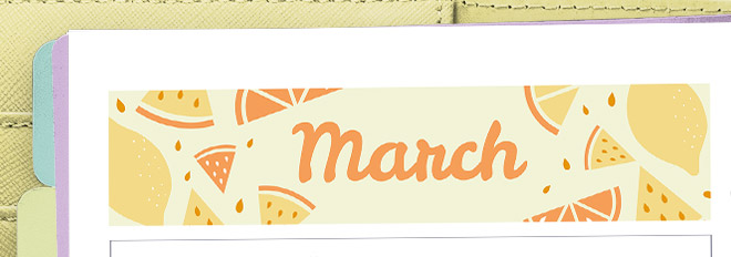 March 2017 Free Printable Monthly Planner