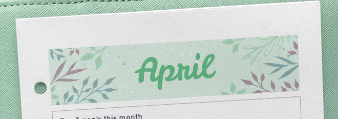 April 2017 Free Printable Monthly Planner