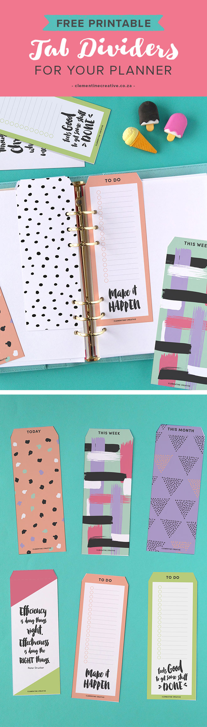 photo relating to Printable Divider Tabs identified as Cost-free Printable Ultimate Tab Dividers for Planners, Diaries and