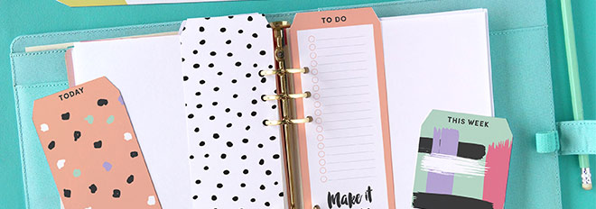 free printable top tab dividers for planners diaries and 25 creative diy bookmarks ideas Creative DIY