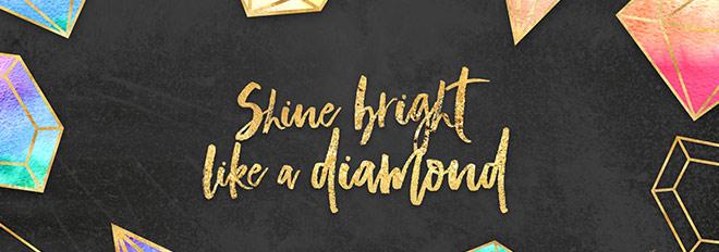 Free Wallpaper – Shine Bright Like a Diamond