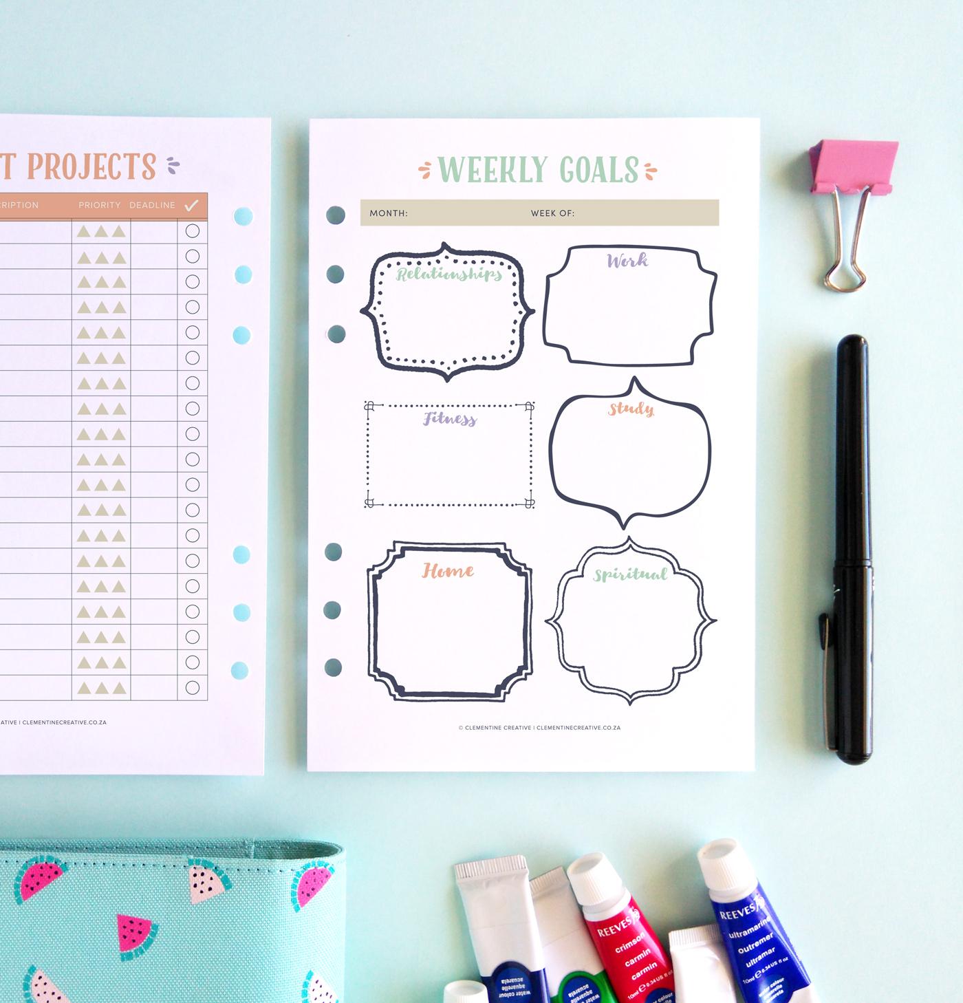 printable life planner