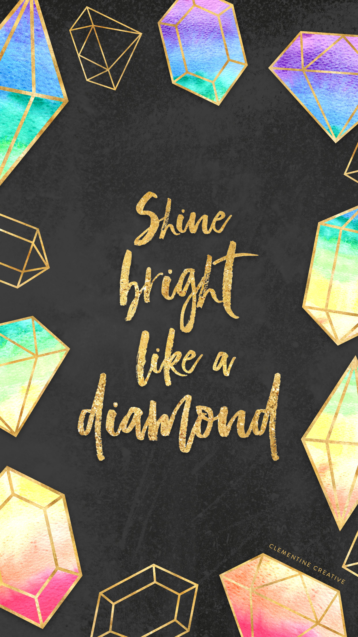 Free Wallpaper Shine Bright Like A Diamond
