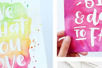 My Latest Watercolour Brush Lettering Work