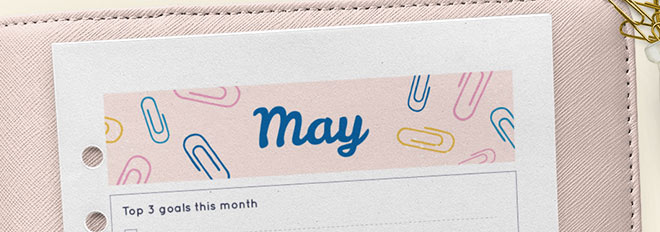 May 2017 Free Printable Monthly Planner
