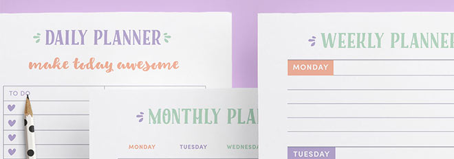 Build Your Own Planner With These DIY Ideas   Clementine Creative |  Printable Planners