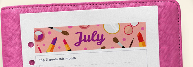 July 2017 Free Printable Monthly Planner