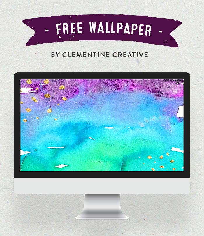Add a bold pop of colour to your devices with this watercolour texture wallpaper. Download it for your phone, tablet or desktop computer here.