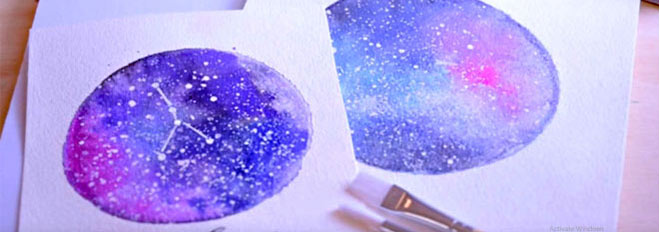 How to Paint Watercolour Galaxies, Nebula and Night Skies: 10 Tutorials and Classes