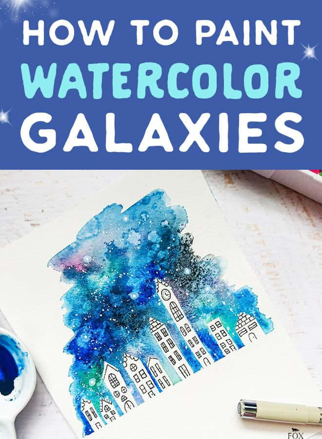how to paint watercolour galaxies