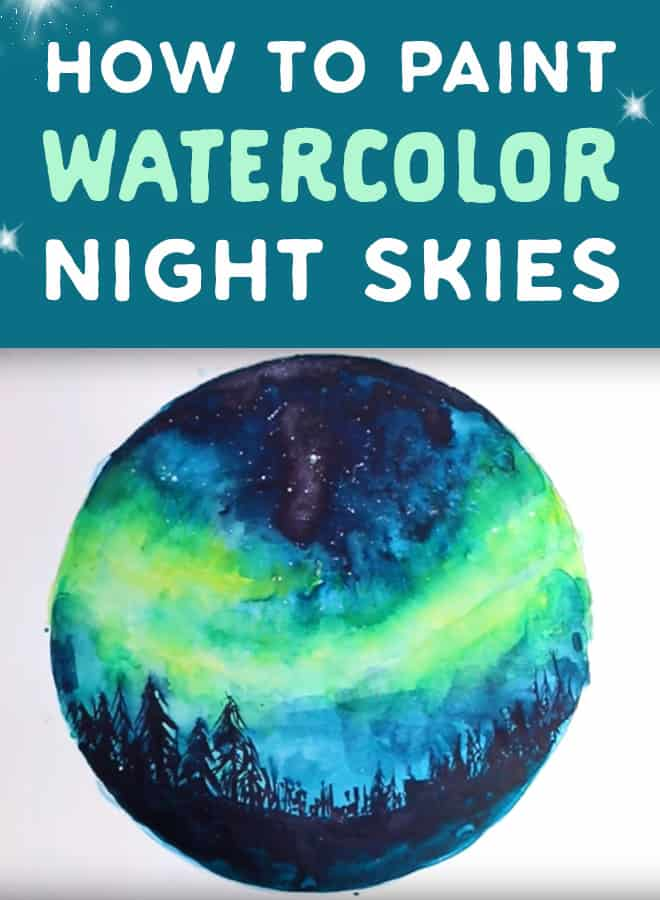 how to paint watercolour night skies