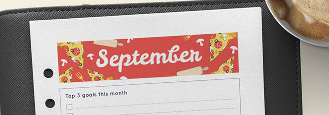 September 2017 Free Printable Monthly Planner