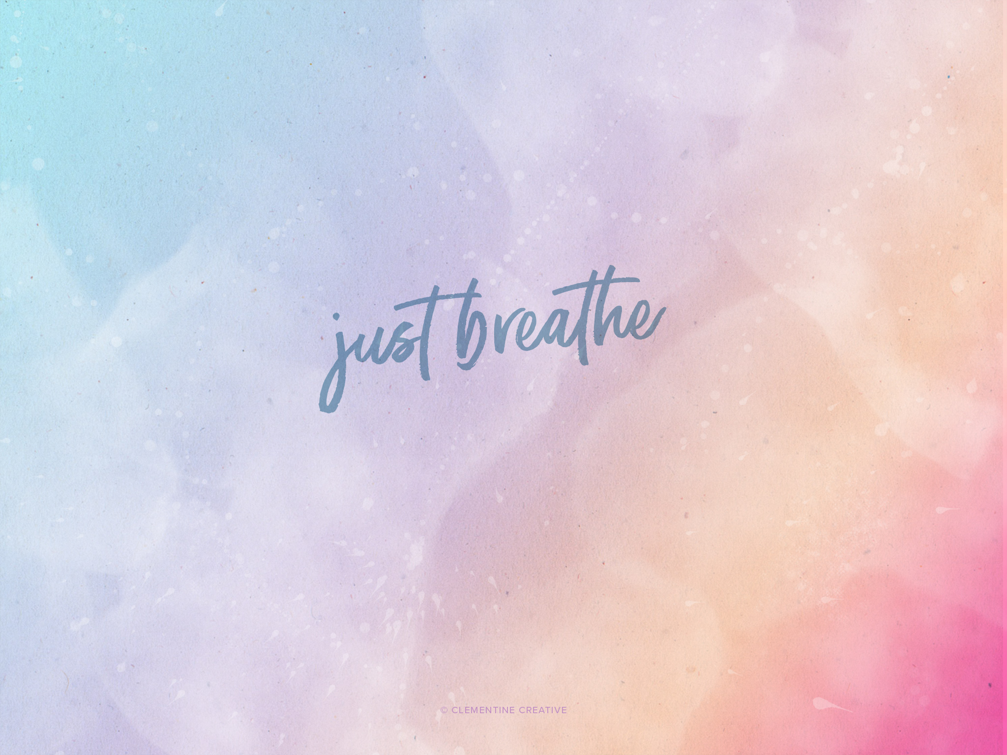 Just breathe free desktop tablet and mobile wallpapers for Going minimalist