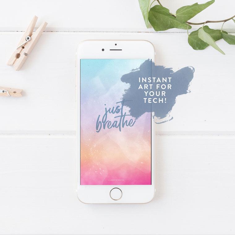 just breathe iphone wallpaper