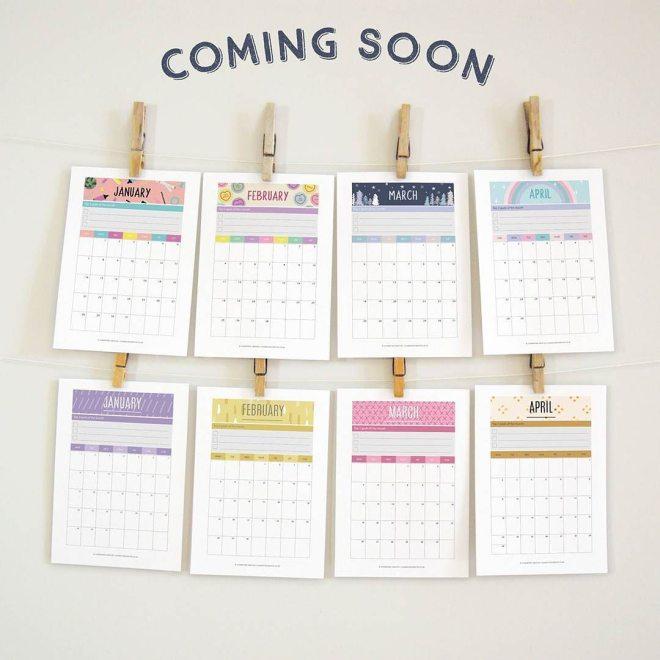 printable 2018 calendars