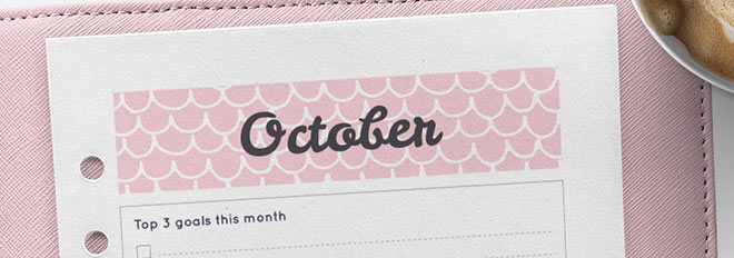 Free Printable October 2017 Calendar Planner