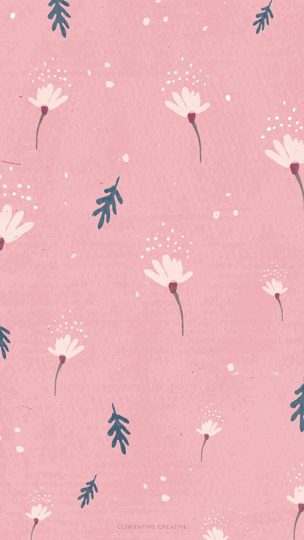 Free Wallpaper: Dainty Falling Flowers