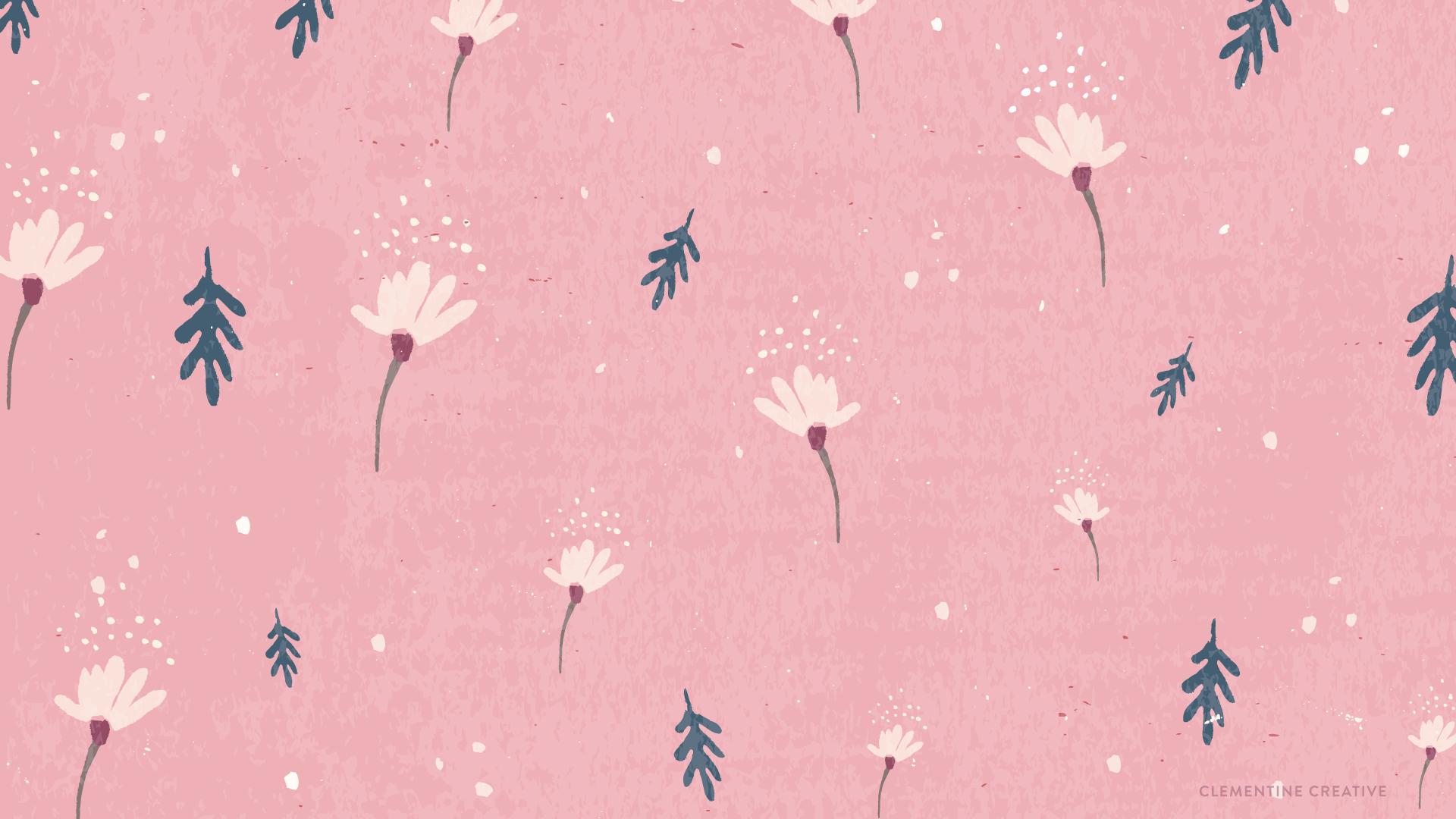 Free wallpaper dainty falling flowers download the pink wallpaper below mightylinksfo