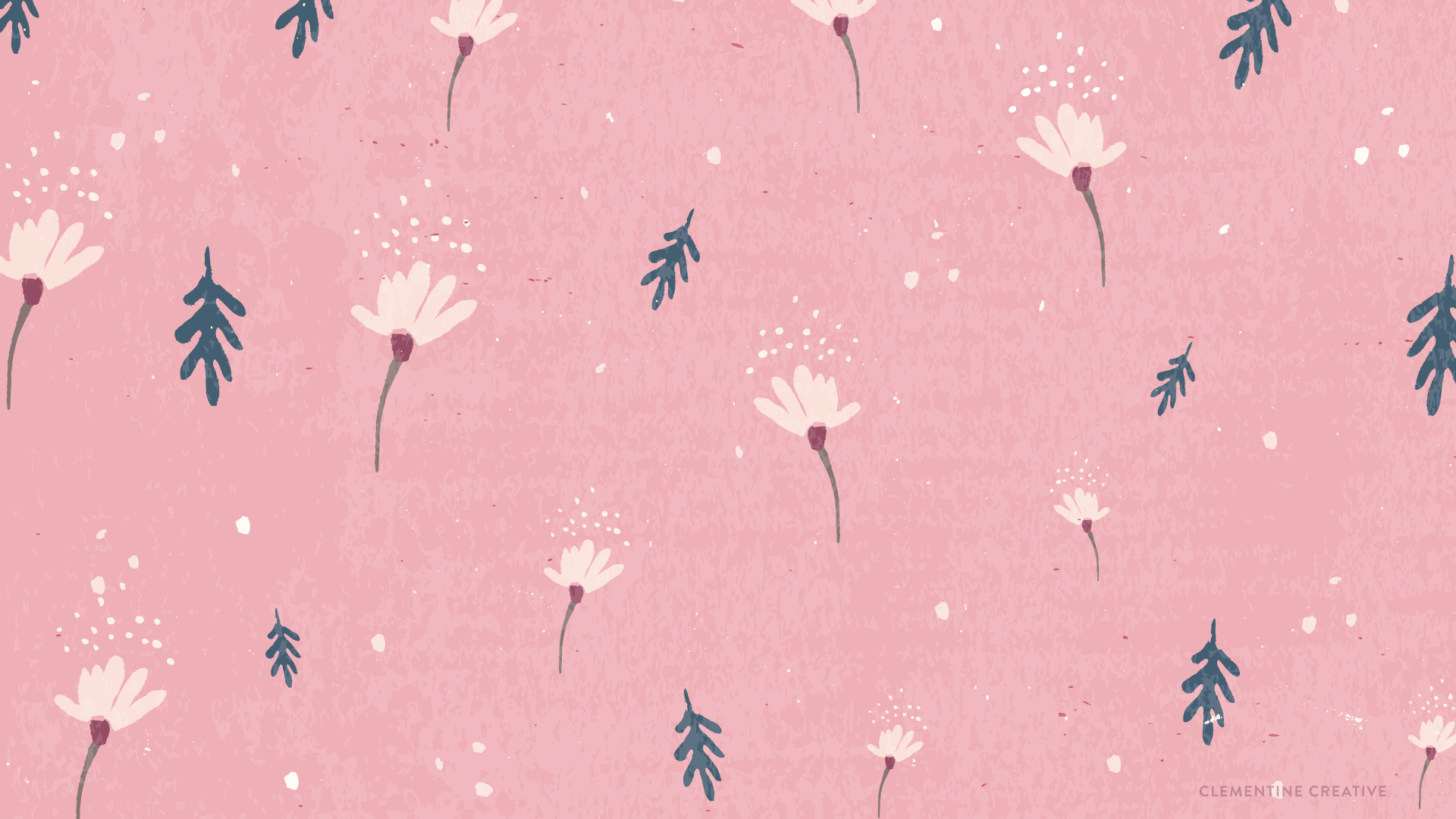 Free Wallpaper Dainty Falling Flowers