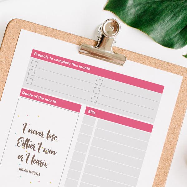 printable 2018 calendar planner
