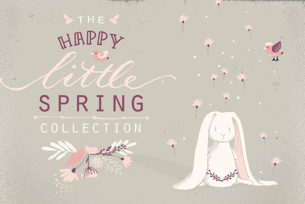 spring bunnies, flowers, patterns and more.