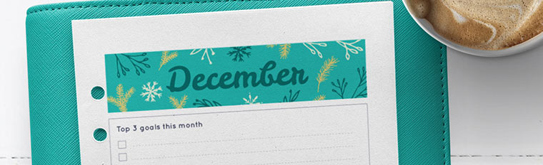 December 2017 {Free Printable Monthly Planner}