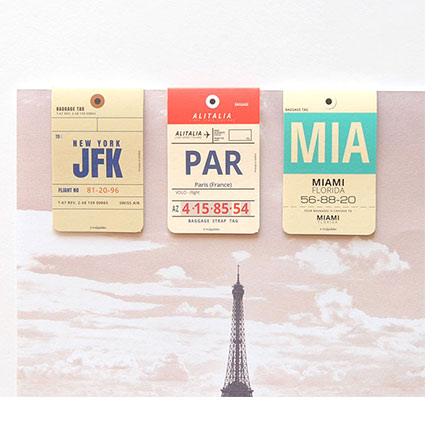 airline magnetic bookmarks