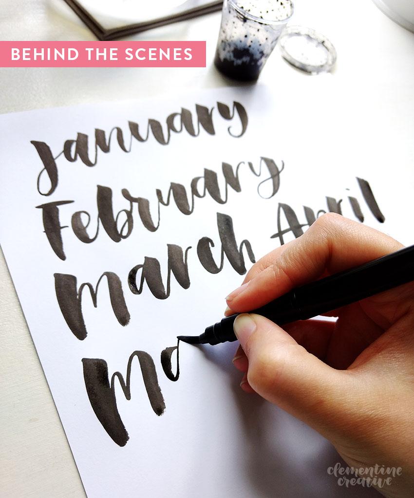 Hand Lettering A Calendar