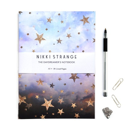 Celestial A5 notebook by Nikki Strange