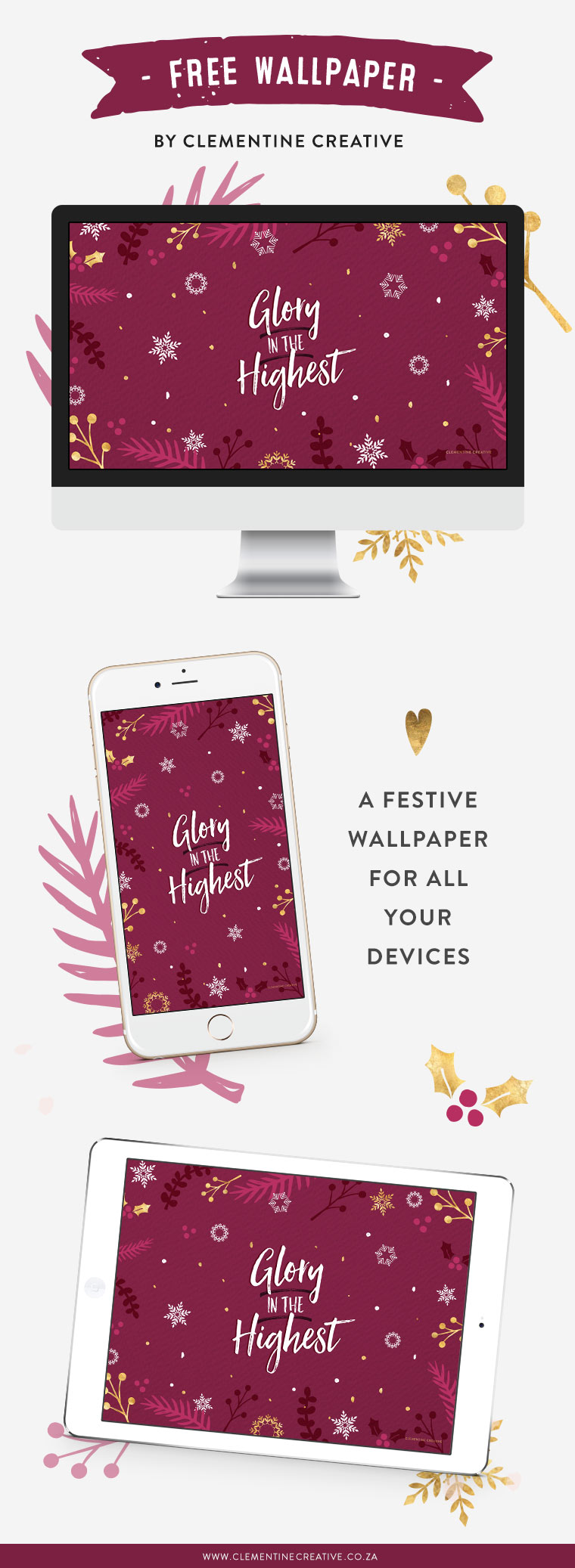 free Christmas wallpaper for desktop, tablet and smartphone