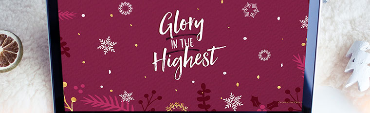 Free Christmas Desktop Wallpaper – Glory in the Highest