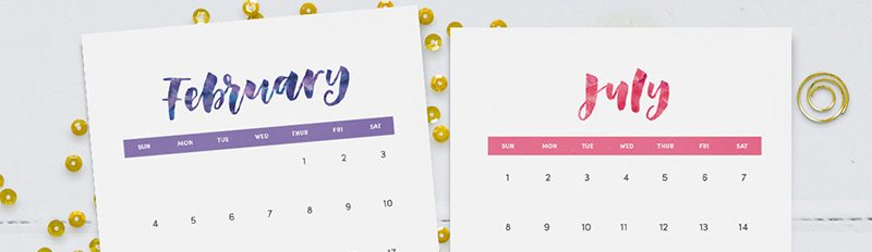 Free Printable {Hand Lettered} 2018 Wall Calendar