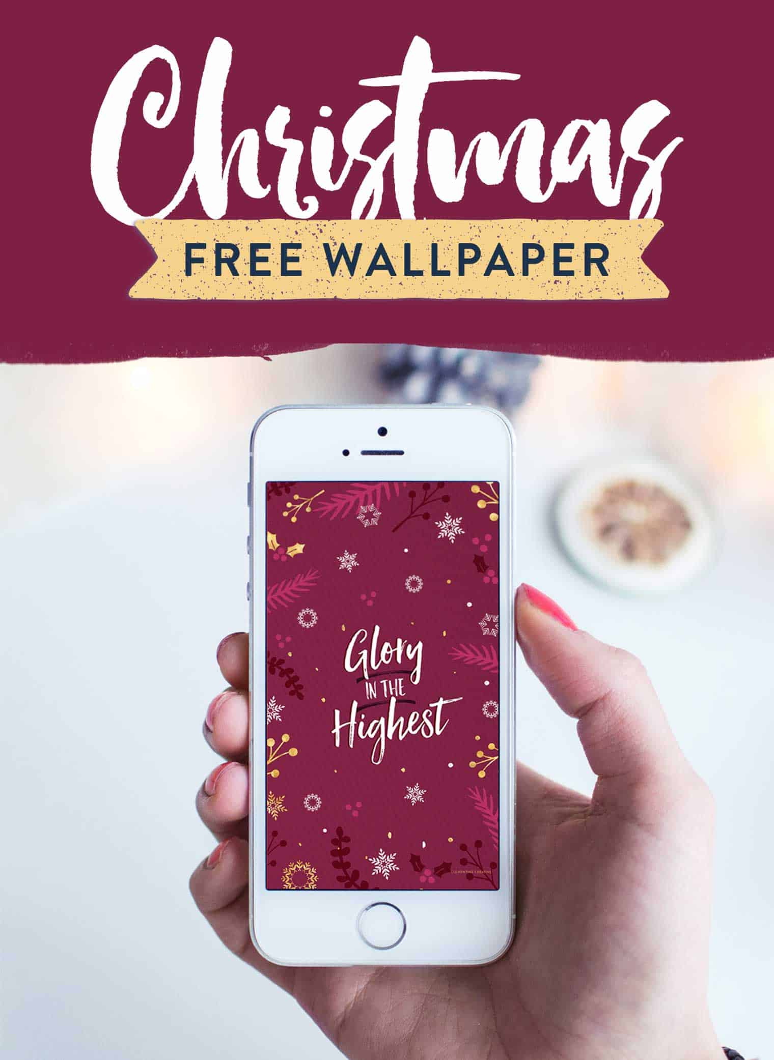 free christmas iphone wallpaper