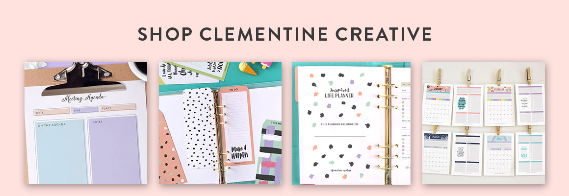 shop planner printables