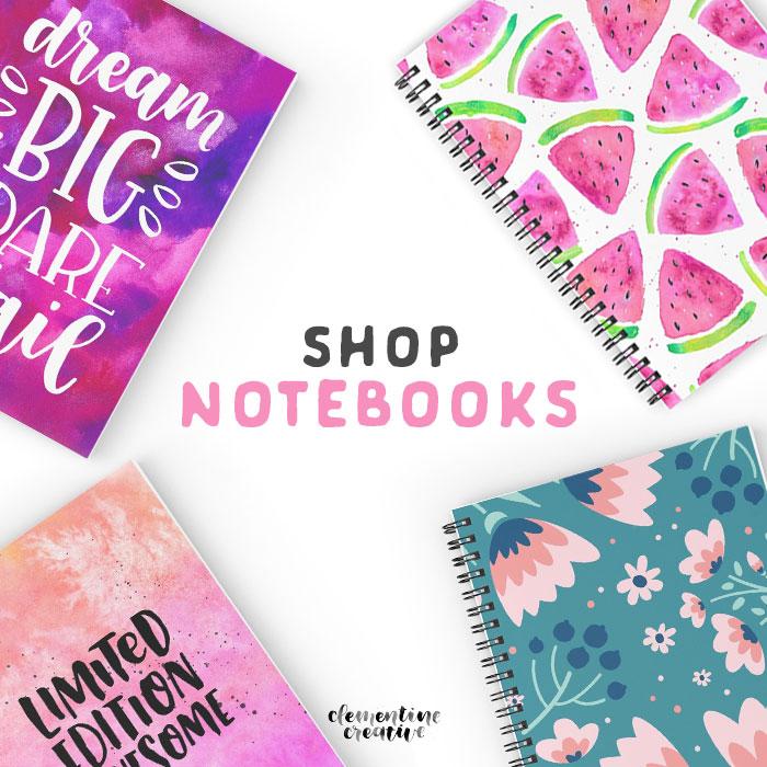 shop cute notebooks