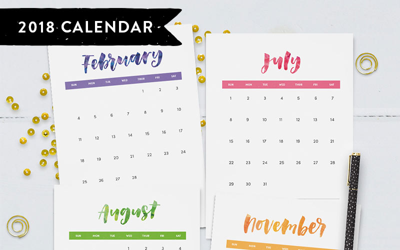 Family Calendar 2018 Printable : Printables for planner lovers clementine creative