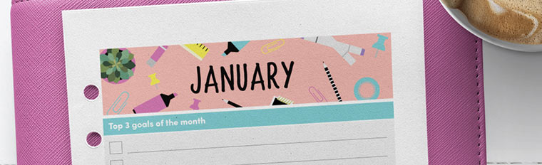 January 2018 {Free Printable Monthly Planner}