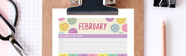 February 2018 {Free Printable Monthly Planner}