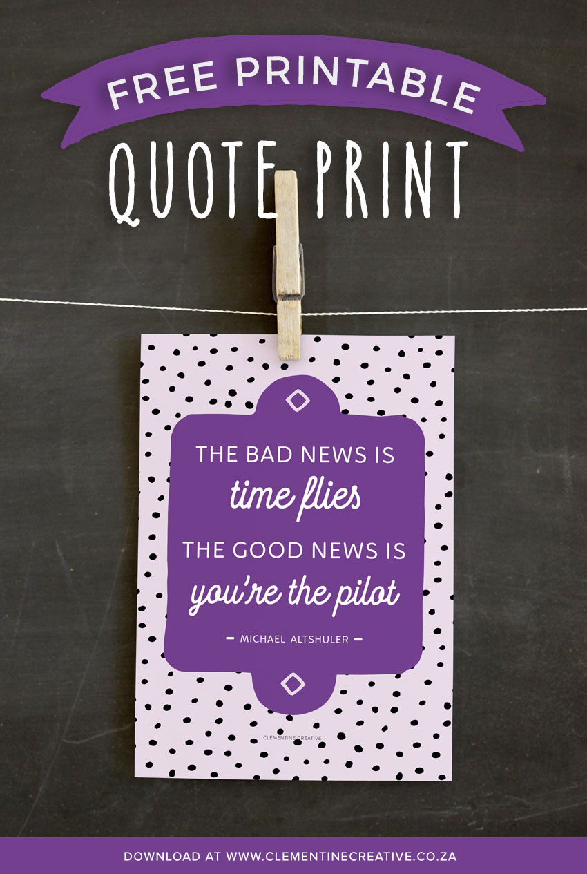 printable motivational quote time management