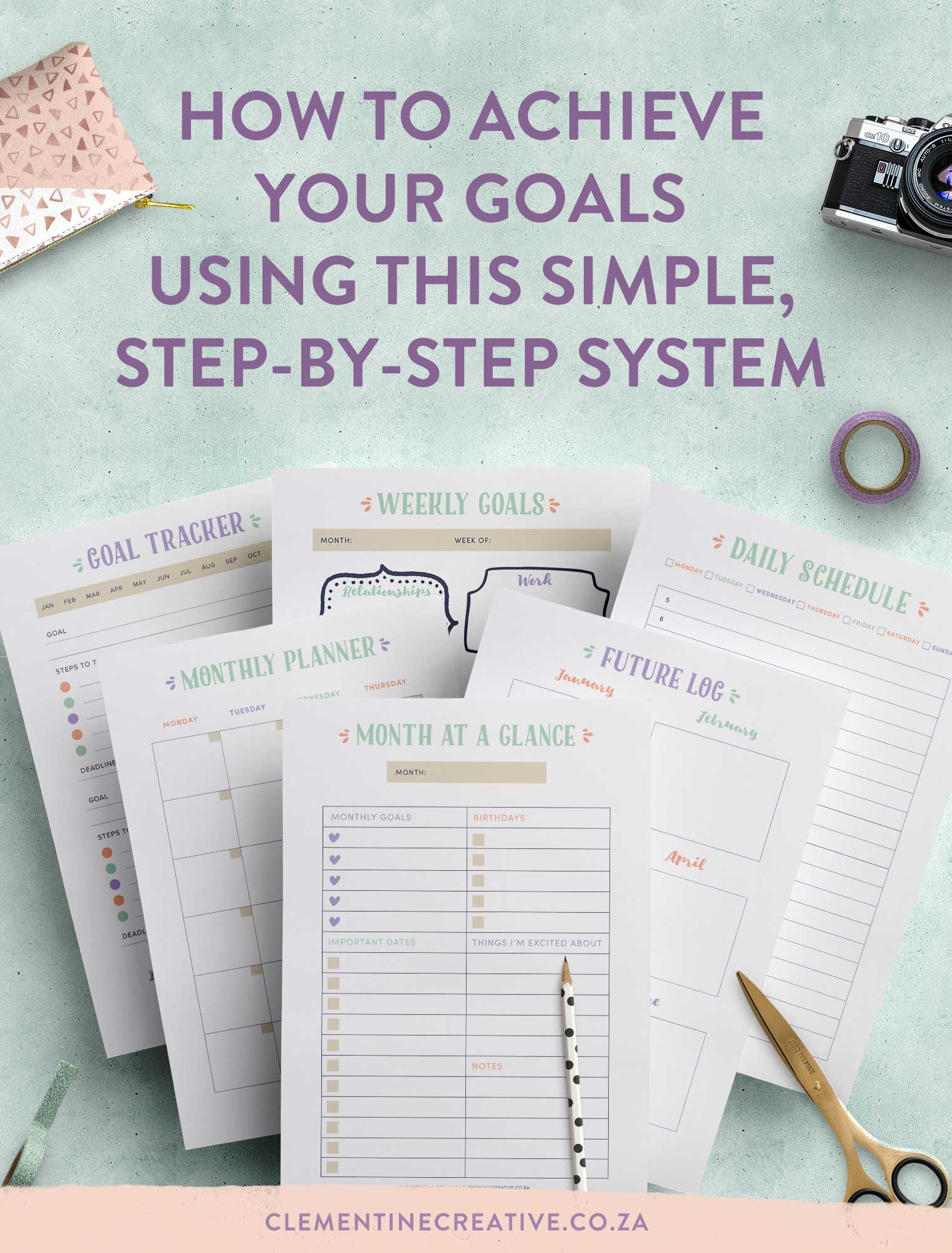 How to set and achieve goals with this simple, step-by-step system. I'll show you how to make goal setting easy and fun! Click here to read more.