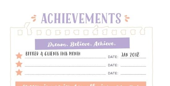 printable achievements page