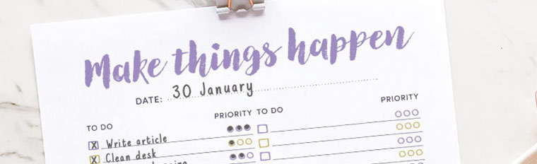 Free Printable To-do List {with space for doodles}