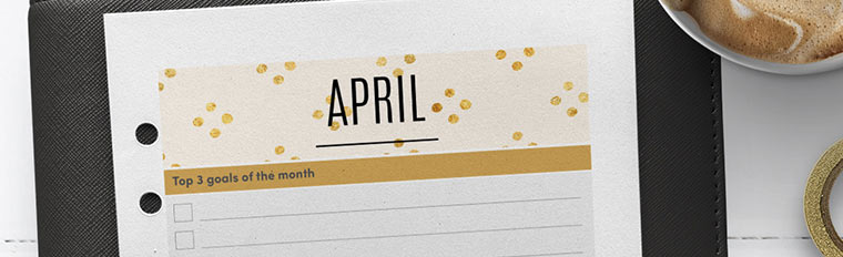 April 2018 {Free Printable Monthly Planner}