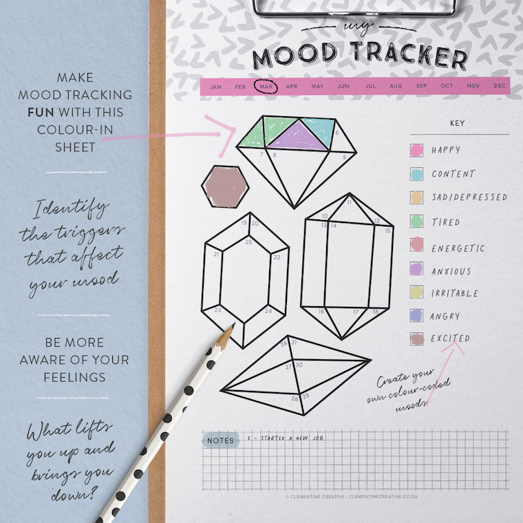 Modern Printable Themed Habit Trackers - Keep track of life!