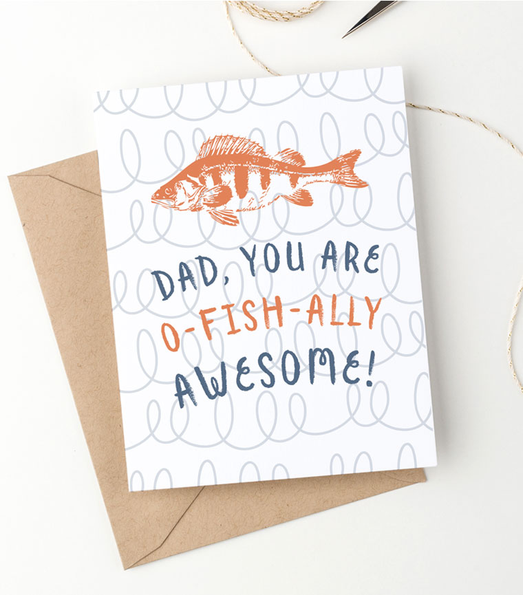 image regarding O Fish Ally Printable referred to as Amusing Totally free Printable Fathers Working day Card (o-fish-ally amazing!)