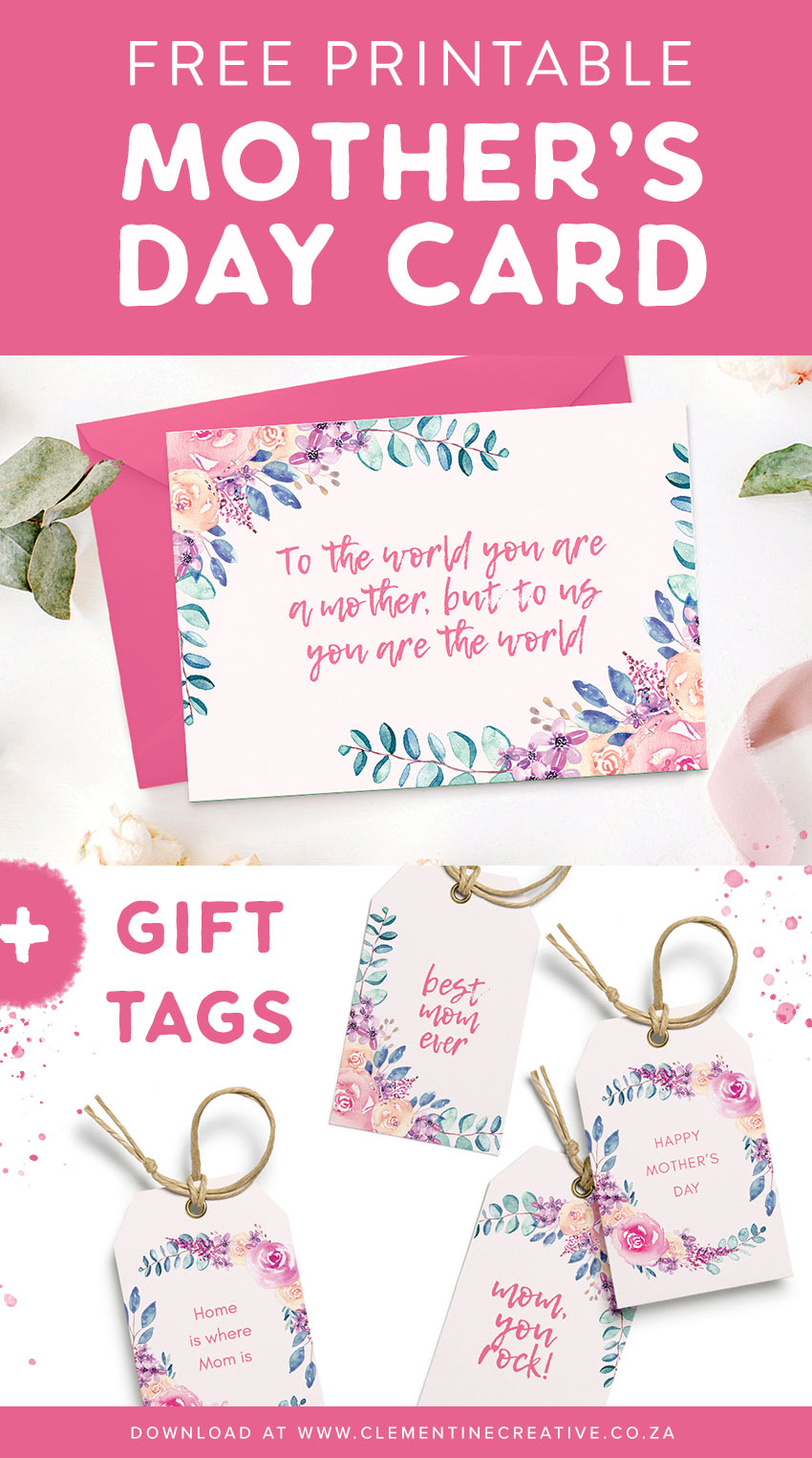 photograph about Free Printable Mothers Day Tags identify Wonder Mother with this appealing Moms Working day card + present