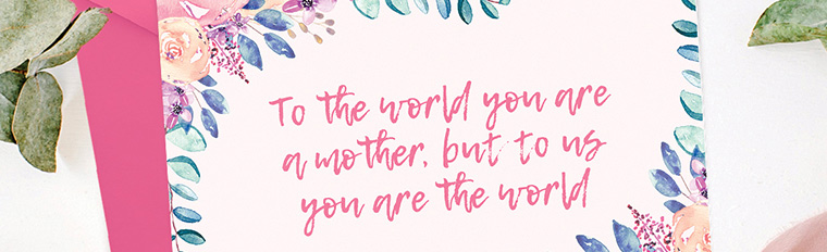 Free Printable Mother's Day Card + Gift Tags